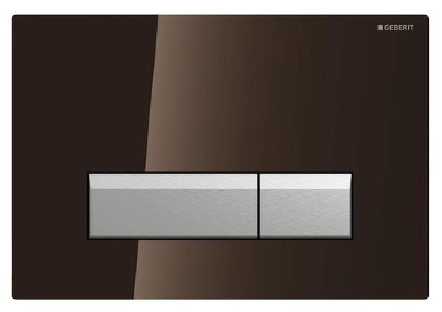 Geberit Sigma40 115.600.SQ.1 смывная клавиша со встроенной системой удаления запахов, коричневое стекло/алюминий. Производитель: Швейцария, Geberit