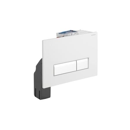 Geberit Sigma40 115.600.KQ.1 смывная клавиша со встроенной системой удаления запахов, белый/алюминий. Производитель: Швейцария, Geberit
