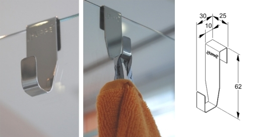 Huppe 600312000 Крючок для полотенца