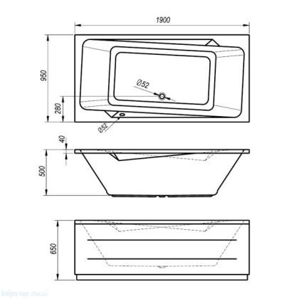 Схема Kolpa San Norma Ванна 190x95 см