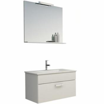 Kolpa San Pixor II 76 Тумба с керамическим умывальником + зеркало с подсветкой, 76 см, цвет белый. Производитель: Словения, Kolpa san