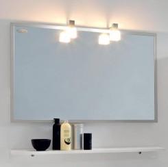 Kolpa San Tia OGT 90 + PT 90 Зеркало со светильником, розеткой и полочкой белого цвета, 90 см. Производитель: Словения, Kolpa san