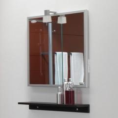 Kolpa San Tia OGT 60 + PT 60 Зеркало со светильником, розеткой и полочкой венге, 60 см. Производитель: Словения, Kolpa san