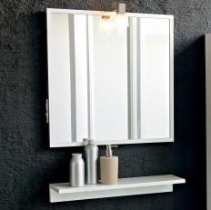 Kolpa San Tia OGT 60 + PT 60 Зеркало со светильником, розеткой и полочкой белого цвета, 60 см. Производитель: Словения, Kolpa san