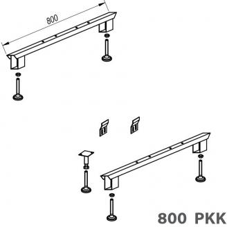Kolpa San PKK 800 ножки для акриловых прямоугольных ванн. Производитель: Словения, Kolpa san