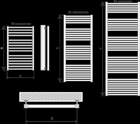 Схема Полотенцесушитель Марио Гера