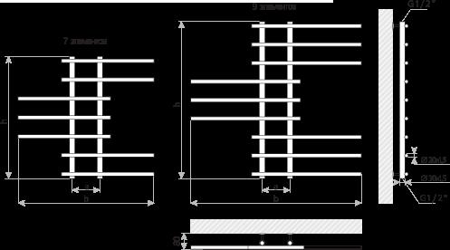 Схема Полотенцесушитель Марио Симфония